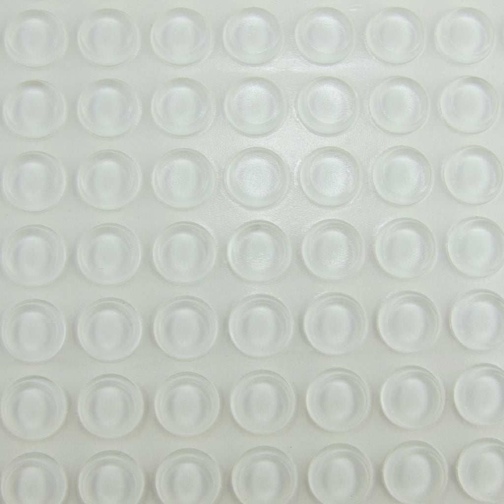 1/2  Inch Clear Rubber Bumpers Sheet of 64