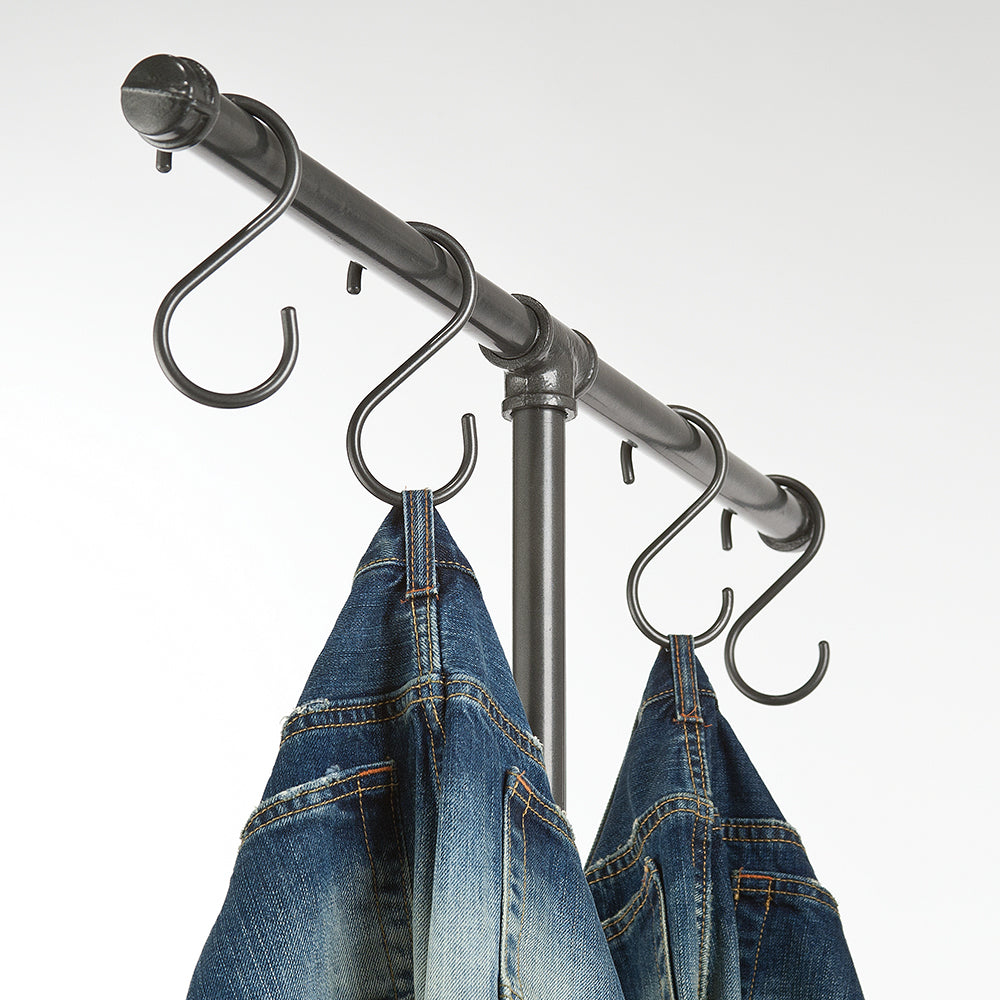 "These Pipeline ""S"" hooks will enhance your display with a traditional, stylish look."