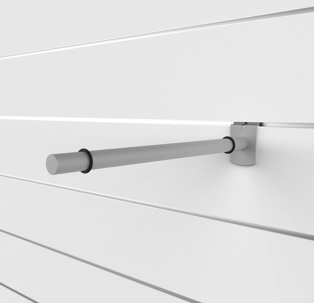 "Capitol Hardware's Modern Slatwall 14"" Bracket for Glass Shelves"