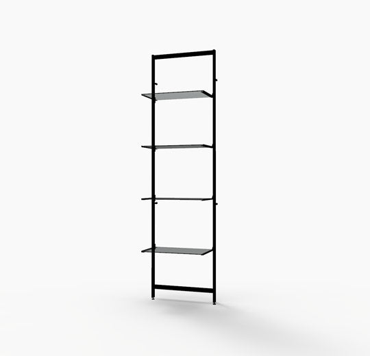 "Vertik Shelving Display Base Unit for Four 14""-16"" Wood and Glass Shelves, Dark Brown by Capitol Hardware"