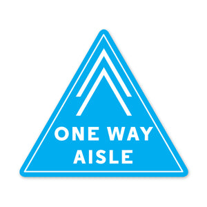 One Way Aisle - PPE Floor Decal - Triangular - Pack of 5
