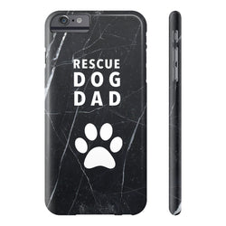 Rescue Dog Dad Marble Case