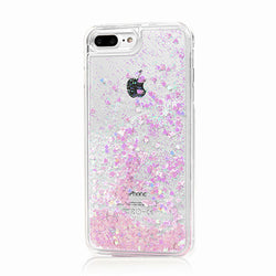 Glitter Hearts Case For iPhone 7