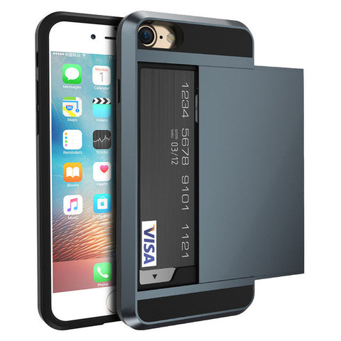 Credit Card Case for iPhone 5 5s SE 6 6s 6 Plus 7 7 Plus