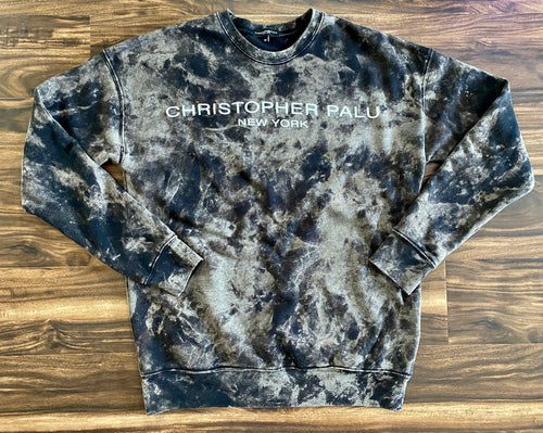 LIGHTWEIGHT SUMMER CREWNECK- GRAPHITE MARBLE