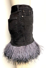Denim Feather Skirt