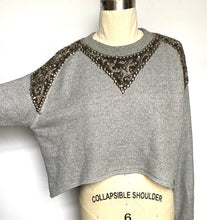 Embellished Cropped Sweatshirt