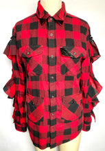 Ruffled Buffalo Plaid Shirt