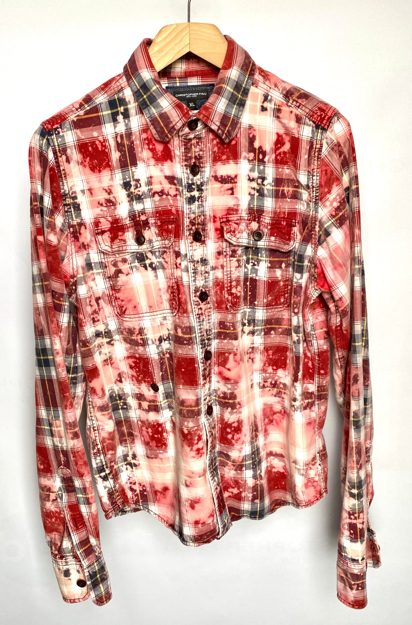 Oversized Distressed Flannel Shirt