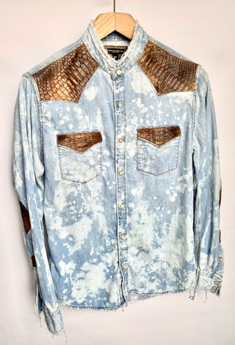 Distressed Denim Python shirt