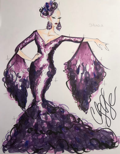 Illustration Shuga Cain- RuPaul's Drag Race Sequin Look