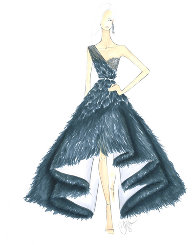 LIMITED EDITION FASHION ILLUSTRATION PRINT A