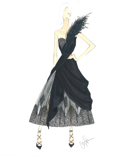 LIMITED EDITION FASHION ILLUSTRATION PRINT F