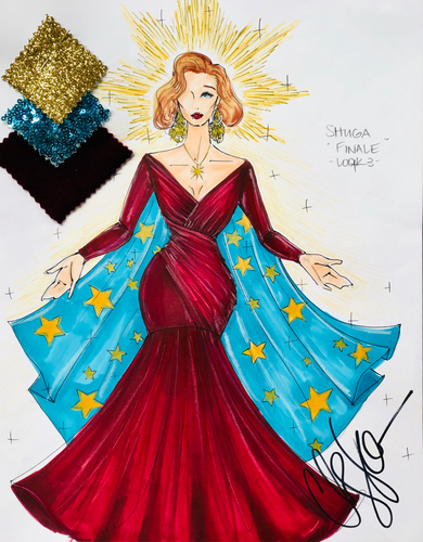 Illustration Shuga Cain- RuPaul's Drag Race Finale Look 3