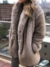 "MID LENGTH FAUX ""PHER"" COAT"