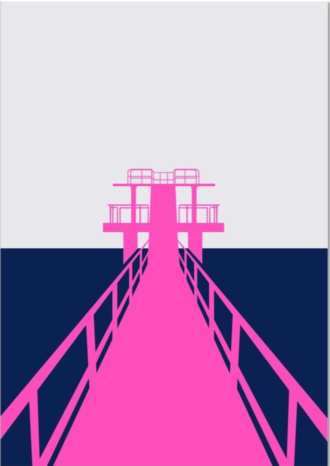 Blackrock Diving Board Poster
