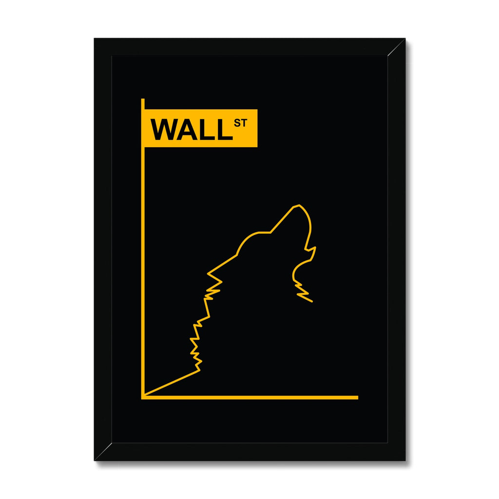 Wolf of Wall Street - Framed Print