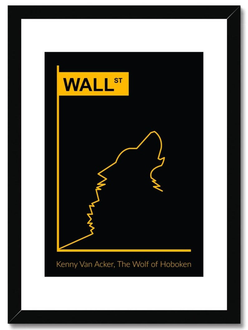 The Wolf of Wall Street (Custom) Framed & Mounted Print