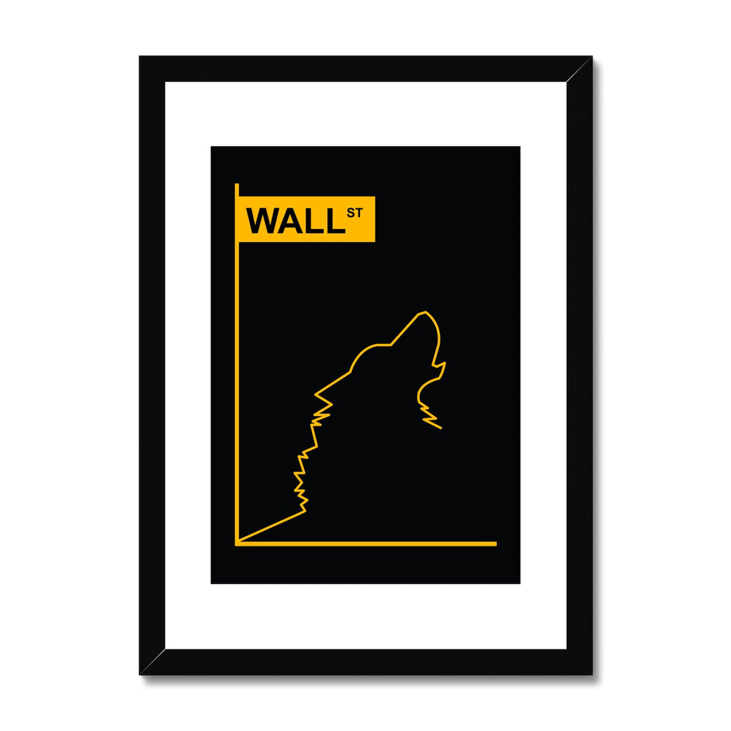 Wolf of Wall Street - Framed & Mounted Print