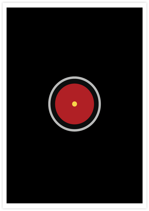 minimal poster A Space Odyssey
