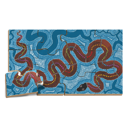 The Rainbow Serpent Floor Puzzle