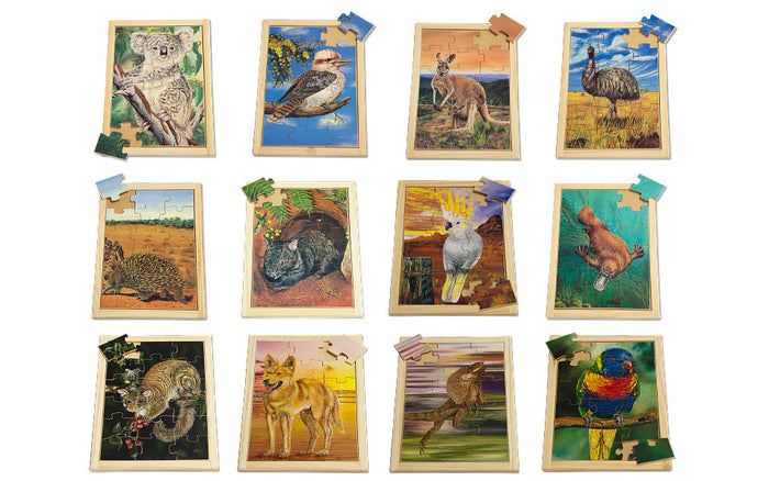 Large Australian Animals Puzzle Set with FREE Posters