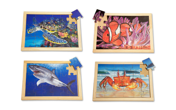 Large Sea Creature Puzzle Set with FREE Posters