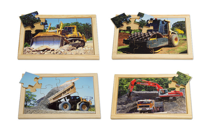 Diggers and Dozers Puzzle Set