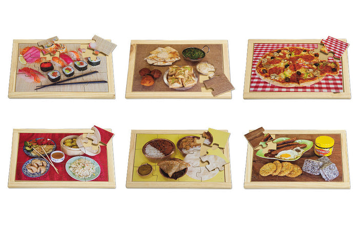 Food of the World Puzzle Set with FREE Posters