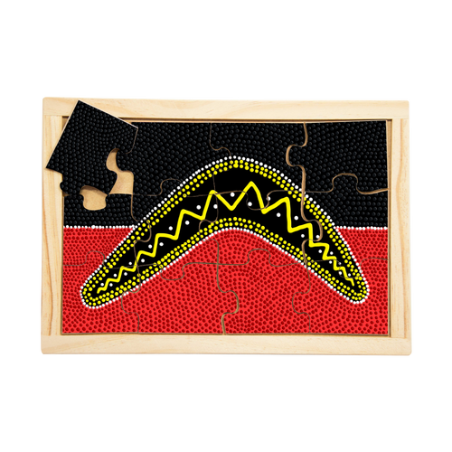 Aboriginal Traditional Boomerang Puzzle