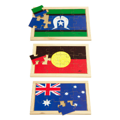 Australia Flags Puzzles Set