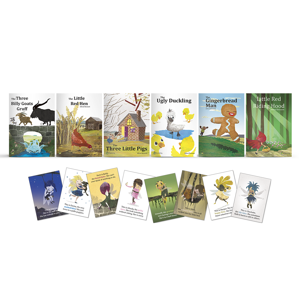 Fairy Tale Big Book Set of 6 - With 8 FREE Large 'Emotional Fairies' Posters