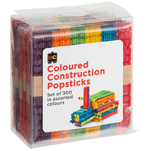 Coloured Construction Popsticks