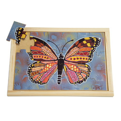 Aboriginal Art Butterfly Large Puzzle