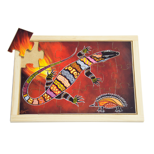 Aboriginal Art Goanna Large Puzzle