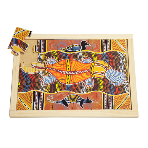 Aboriginal Art Platypus Large Puzzle