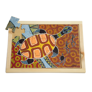Aboriginal Art Turtle Large Puzzle