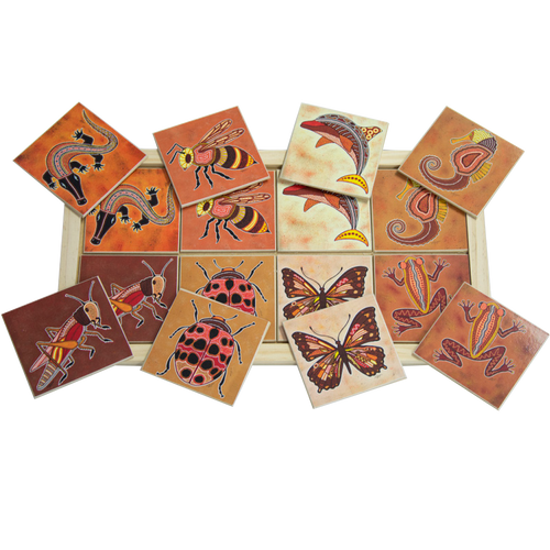 Aboriginal Creatures Large Memory Game