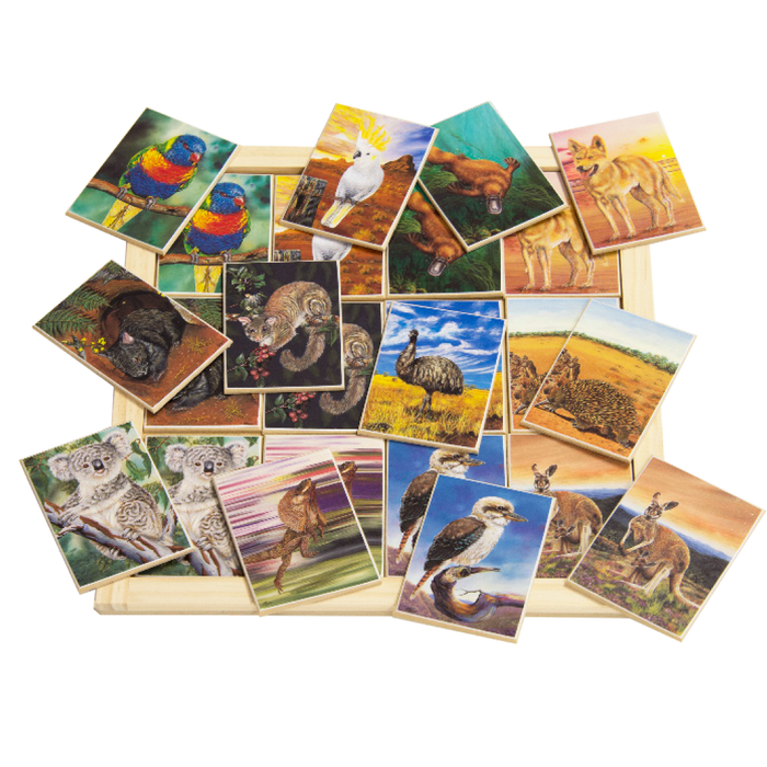 Australian Animals Large Memory Game