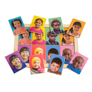 Multicultural faces Memory Game