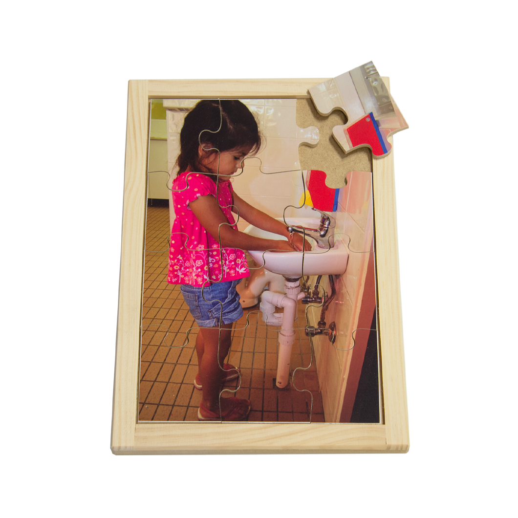Indian Girl Washing Hands Puzzle