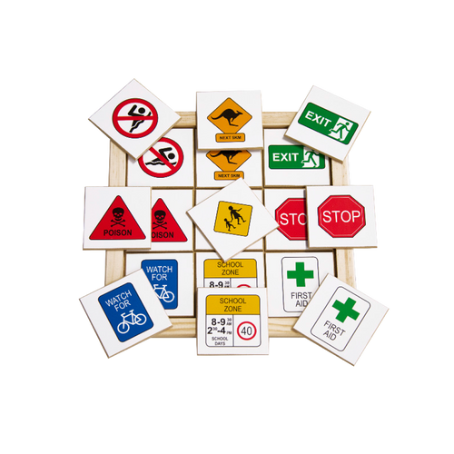 Safety Signs Creatures Memory Game