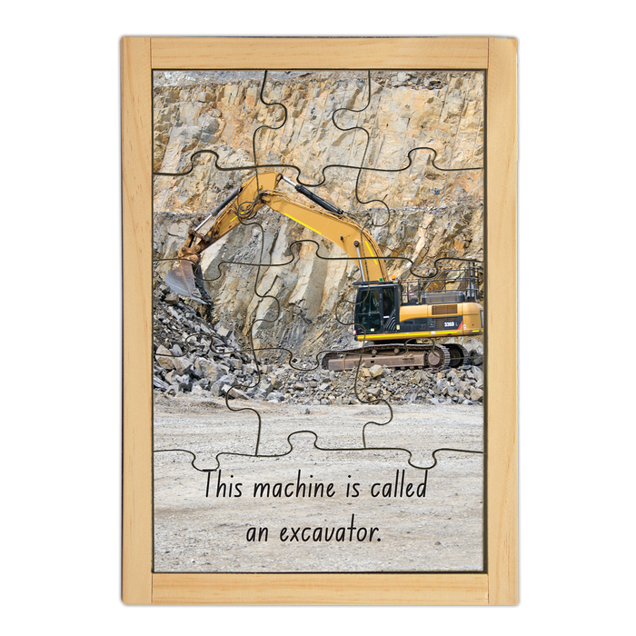 Excavator Large Story Puzzle