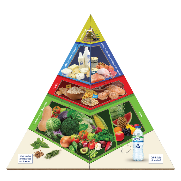 Large Food Pyramid Floor Puzzle