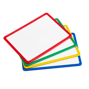 Magnetic Plastic Framed Whiteboard Set of 4