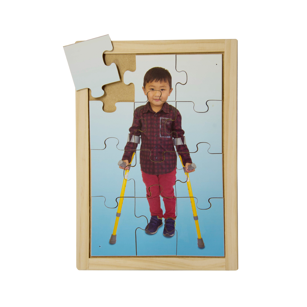 Boy with Crutches Puzzle