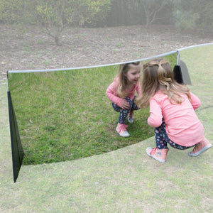 Outdoor Curved Mirror Room Divider