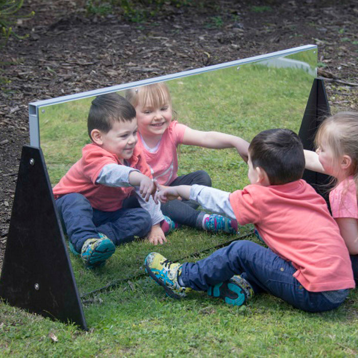 Outdoor Straight Mirror Room Divider