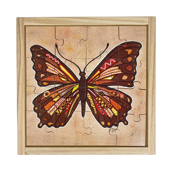 Aboriginal Butterfly Square Puzzle