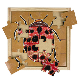 Aboriginal Lady Beetle Square Puzzle